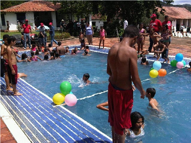 It was everybody into the pool after Hugo Chavez took over the ranch of a former U.N. Security Council president who's been critical of the dictator.